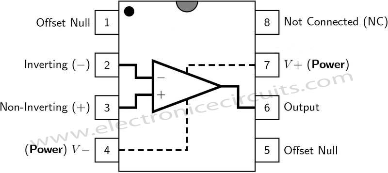 741 Operational  lifier on circuit wiring diagrams