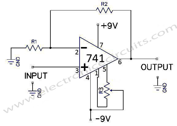 741-op-amp-general-purpose-non-inverting-dc-amplifier