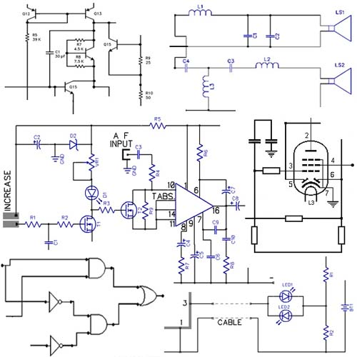 Circuit diagram - Wikipedia, the free encyclopedia | electronics circuit schematics