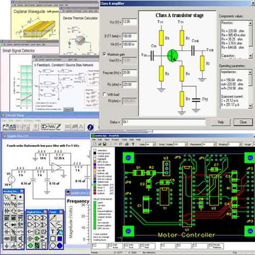 Electronic Circuits Software, electronic eircuit software tools, pcb, pic, calculator software