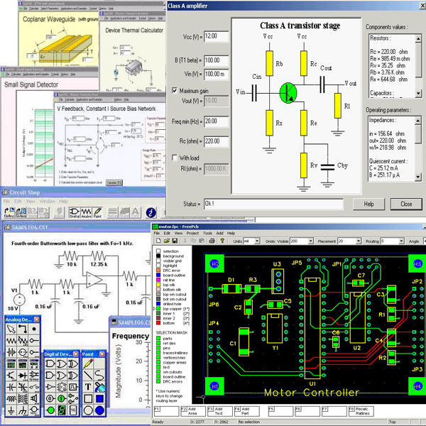 Electronic Circuits Software, PIC, PCB, Electrical CAD Softw