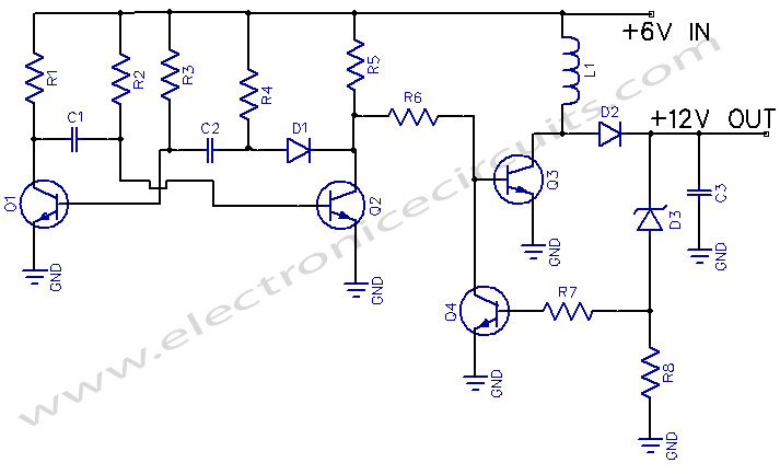 6V to 12V DC Voltages Converter circuits