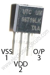 UM66 COMS IC PIN Configuration  Top View