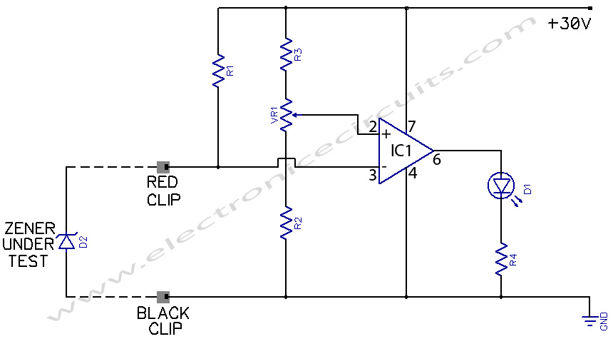diagram zener test diode tester circuit schematic