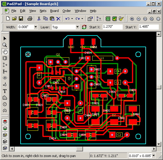 pad2pad free pcb layout software download