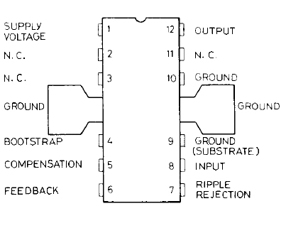 tba810 pin connection diagram