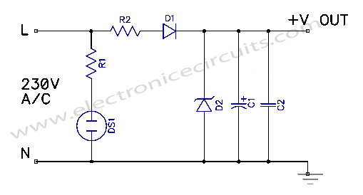 24 volt power supply diagram wiring diagramtransformerless power supply electronic circuitstransformerless power supply circuit