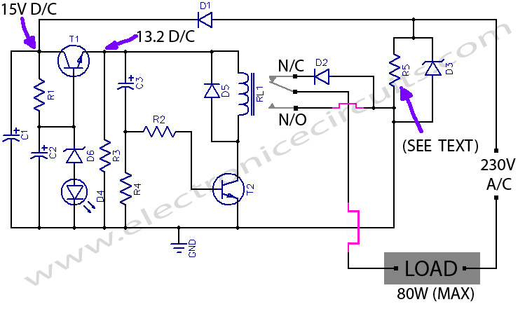 Auto Heat Limiter For Soldering Iron circuit diagram