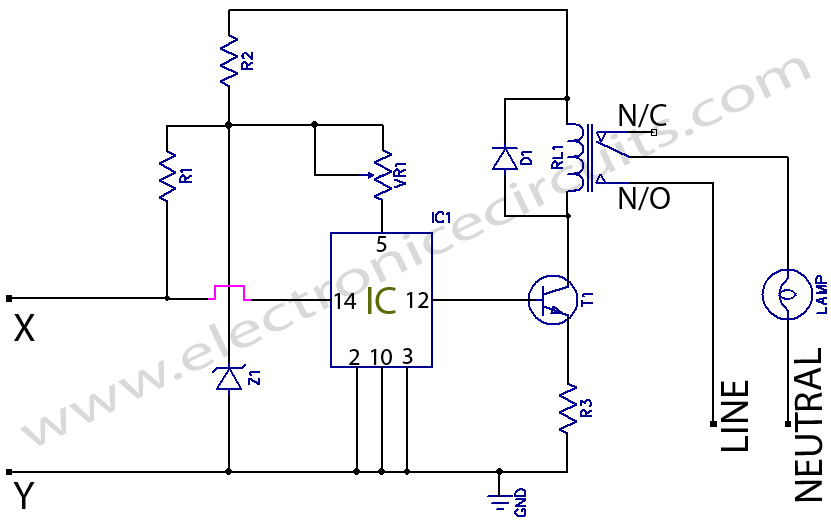Electronic Multi way Switch circuit