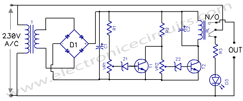 Power Guard Under and Over Voltage Protector circuit