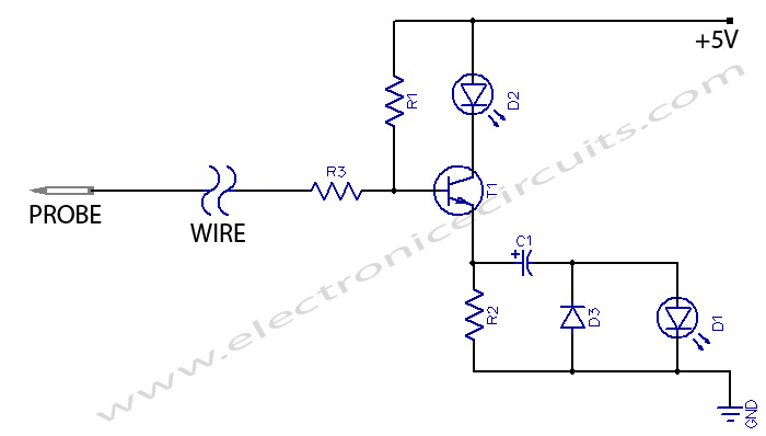 Ultra Simple Digital Probe circuit