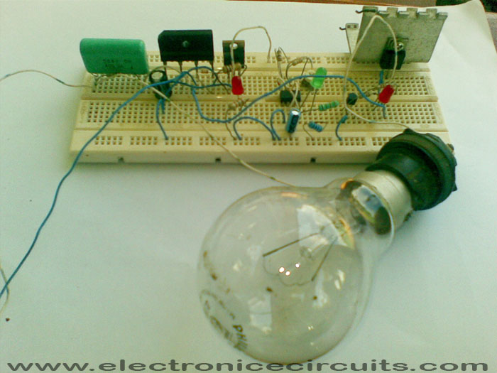 WAY AC FLASHER CIRCUIT DIAGRAM Electronic Circuits