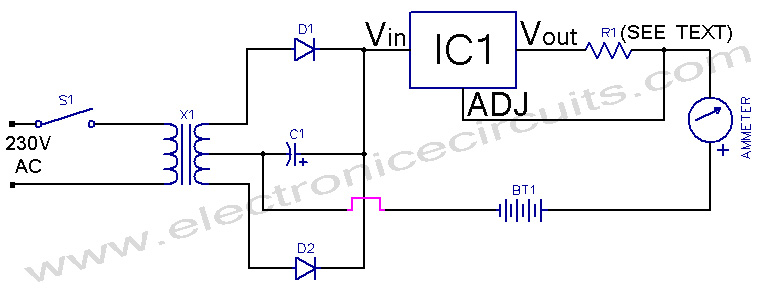 Simple Ni-Cd Battery Charger circuit