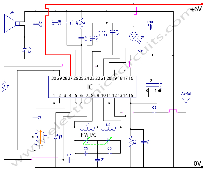 cxa1019 fm radio circuit diagram electronic circuits rh electronicecircuits com Schematic Circuit Diagram Basic Wiring Schematics