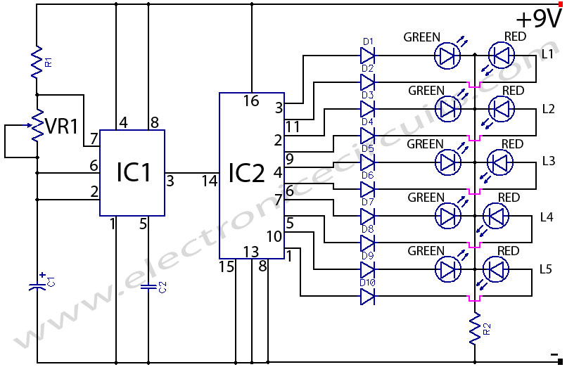BI-Colour LED Running Lights | Electronic Circuits