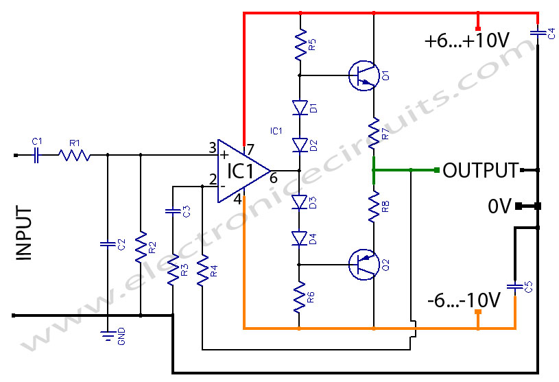 HeadPhone Amplifier OR PreAmplifier OutPut Stage circuit using LF356
