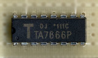 TA7666P stereo sound level indicator ic