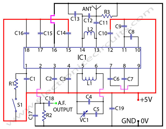 Circuit Diagram Of Fm Radio Receiver | I M Yahica Fm Receiver Circuit Using Ic 1619