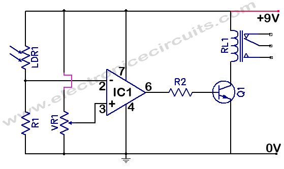 LDR Light Detector | Electronic Circuits
