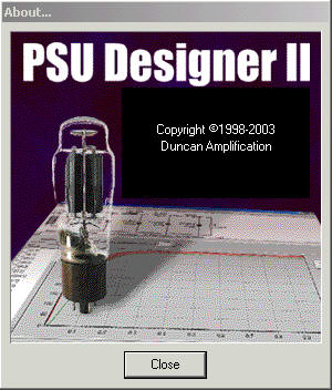 Tube Amplifier Power Supply Unit Designer software