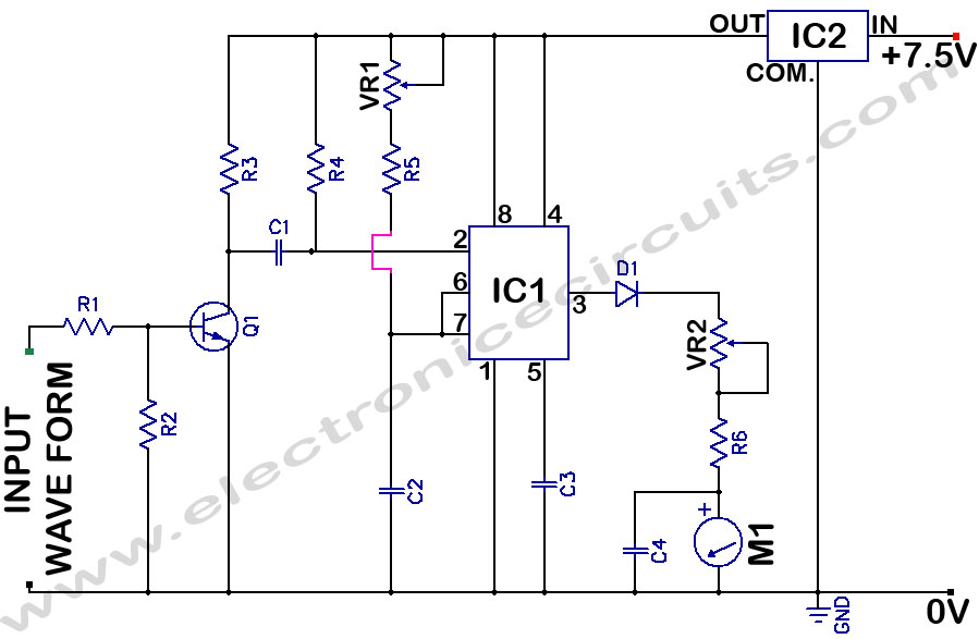 analog frequency meter circuit electronic circuits rh electronicecircuits com Radio Shack Frequency Counter universal frequency counter circuit diagram