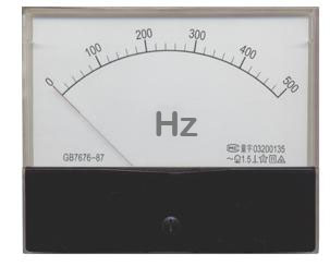 analog frequency meter