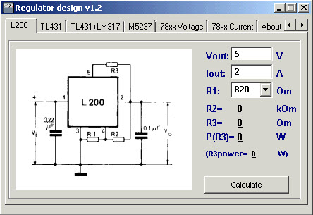 regulator designer lm317 lm150 lm350 l200 tl431 m5237 78xx design