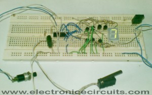 4033 7 segment common anode display counter