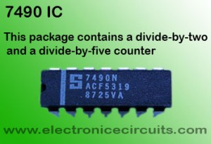 7490 SN7490A SN74LS90 SN74LS90N 7490N BINARY COUNTER IC