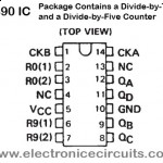 7490 SN74LS90N 7490N BINARY COUNTER IC pin configuration