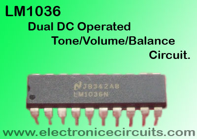 LM1036 Dual DC Operated Tone Volume Balance lm1036n IC