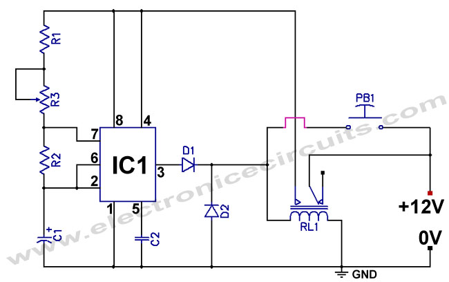 555 Low power Consumption or Reduce Power Timer Circuit