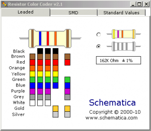 Color code of resistor calculator.