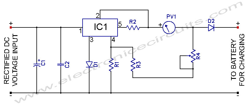 L200 12v Constant Voltage Battery Charger Circuit Electronic Circuits