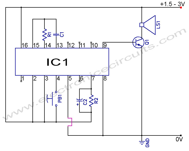 musical doorbell circuit diagram