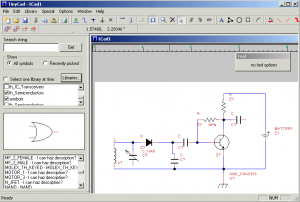 tinycad electronic circuit drawing software electronic