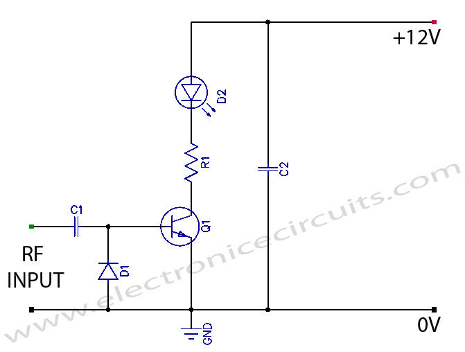 Transmitter RF Output Indicator Circuit Diagram
