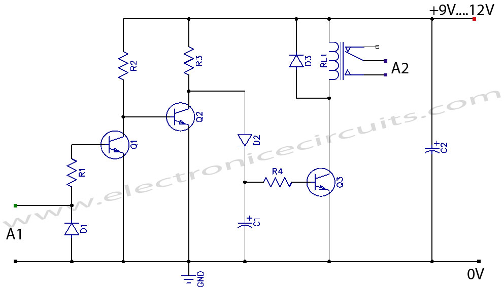 vcr video detector switch controller circuit electronic circuits rh electronicecircuits com Schematic Circuit Diagram Power Amplifier Circuit Diagram