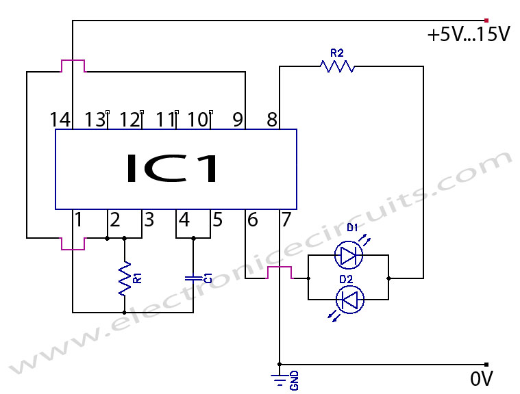 41 led flasher circuit using 555 ic  4 steps  u2013 readingrat net
