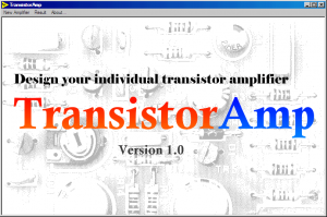 Transistor Amplifier Circuits Designer Software Download