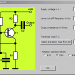 transistor common base circuit design software