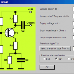 transistor common emitter circuit designer software