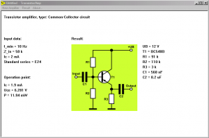 transistorAmp transistor amplifier circuits design software download