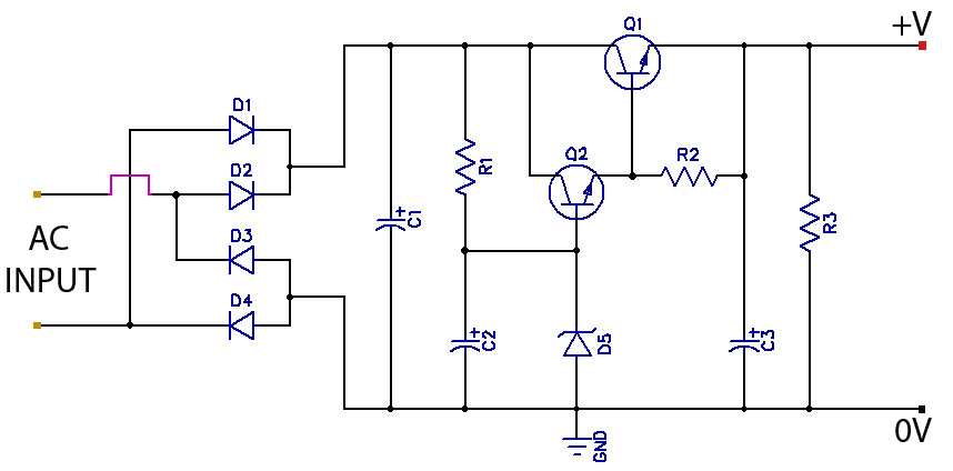 low ripple regulated power supply diagram wiring jope rh jopewiring blogspot com power supply wiring diagram pc power supply connector diagram