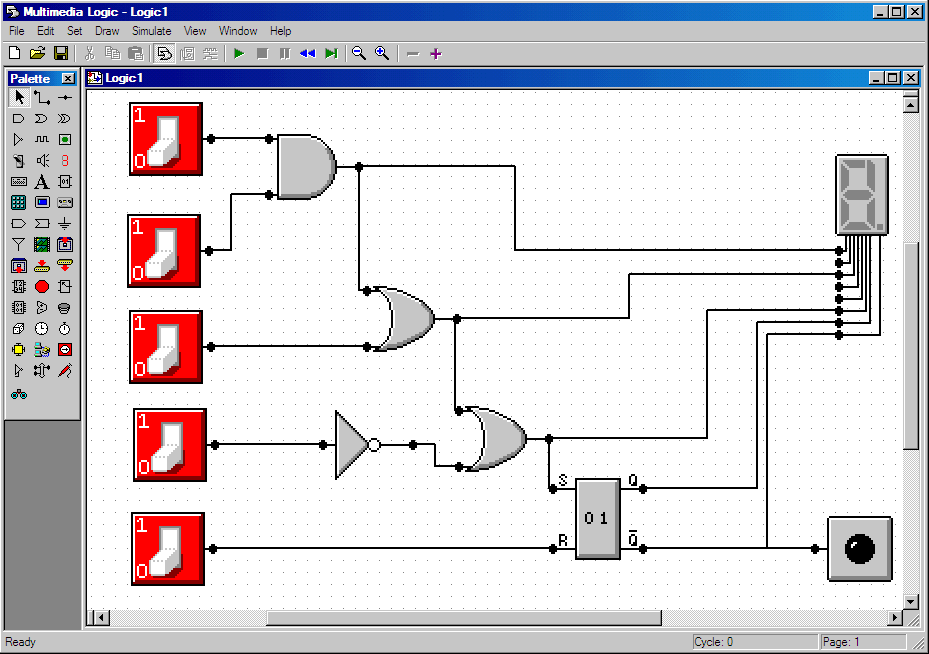 Digital Logic Circuit Design simulator Software | Electronic Circuits