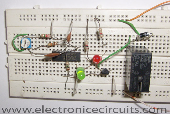 cd4060 ic timer circuit with relay switch