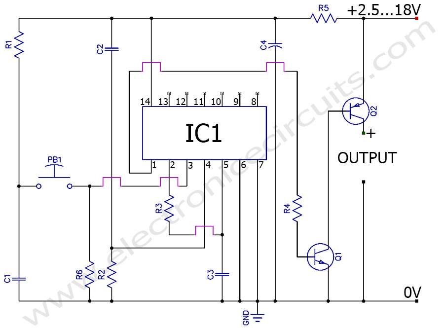 on off switch circuit diagram ireleast info momentary push button soft latching toggle on off switch circuit wiring circuit