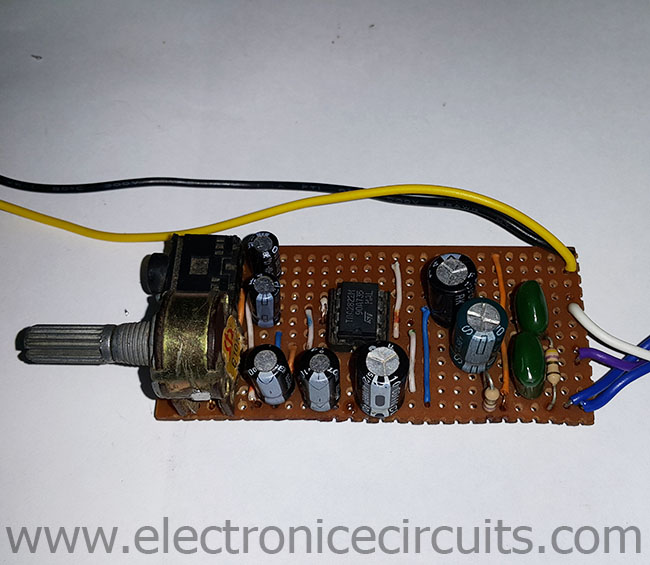 3V Battery Powered Stereo Amplifier Circuit TDA2822M | Electronic